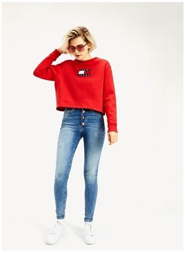 Tommy Jeans Sweatshirt Kırmızı